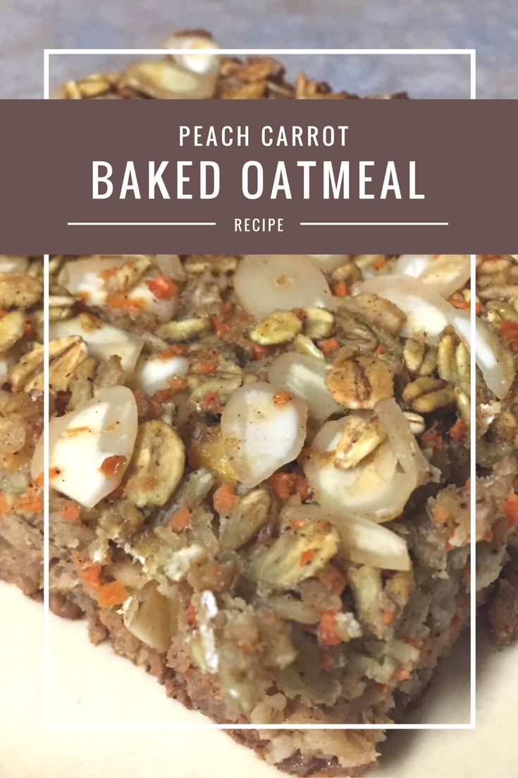 peach carrot Baked Oatmeal from Body Compass Discovery's blog