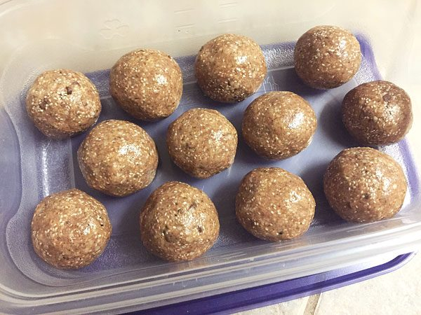 almond butter no bake superseed shakeology energy balls