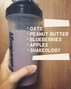 blueberry apple peanut butter oat shakeology
