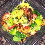 fruit nut and seed balsamic chicken salad