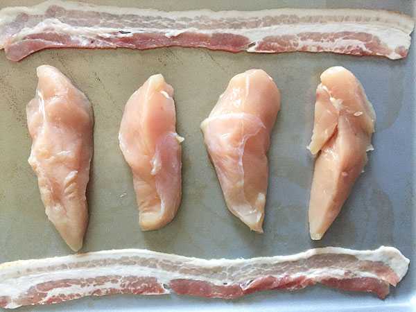 chicken and bacon prep for oven baking