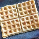 homemade chicken and bacon waffles