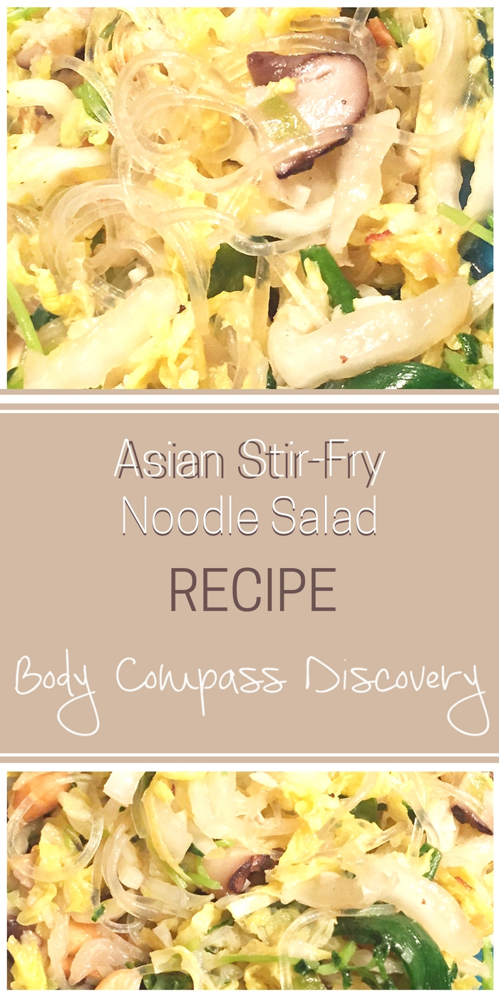 Asian Cabbage Stir Fry Noodle Salad recipe