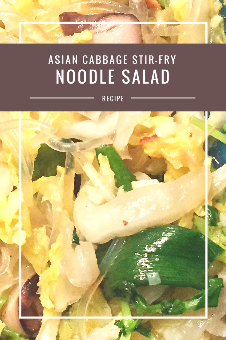 Asian Cabbage Stir Fry Noodle Salad recipe from Body Compass Discovery's blog