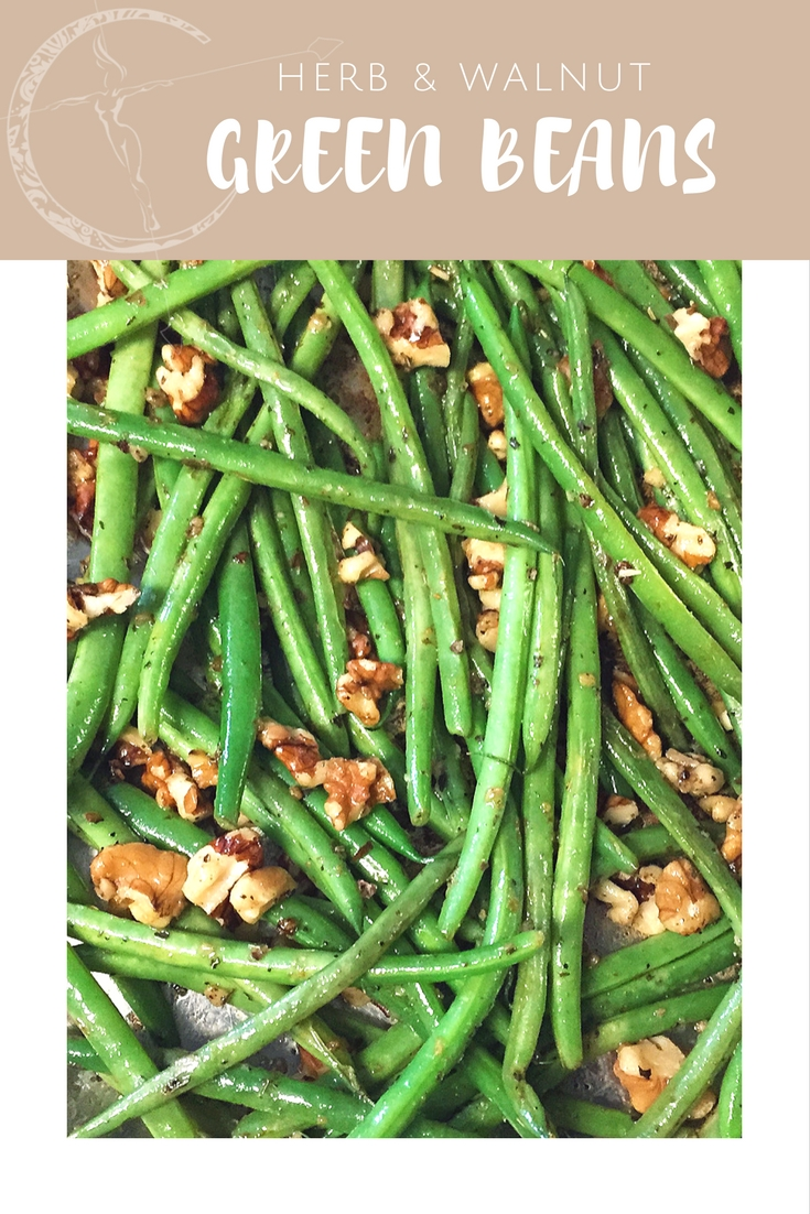 Herb & Walnut Green Beans recipe from Body Compass Discovery's blog