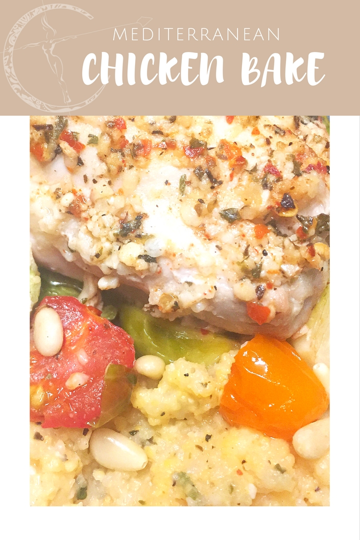 Mediterranean Chicken and Veggie bake recipe from Body Compass Discovery's blog