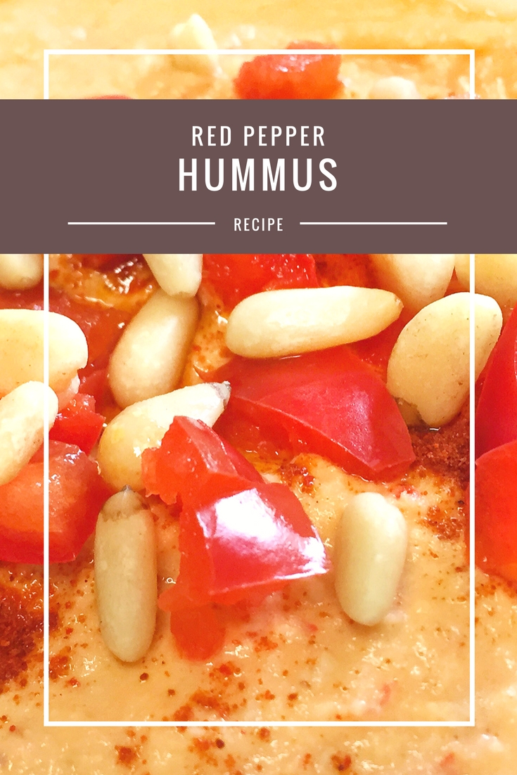 Red pepper hummus recipe from Body Compass Discovery's blog