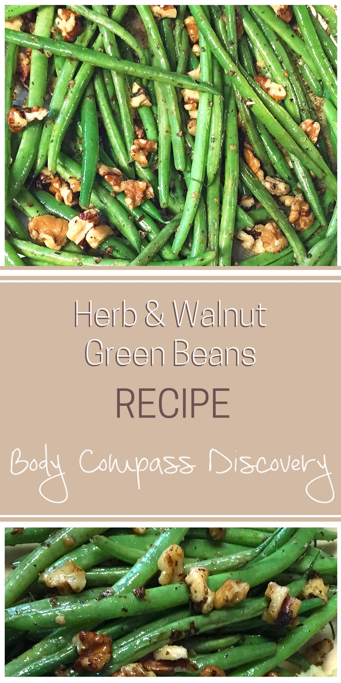 Green beans with walnuts and herbs recipe