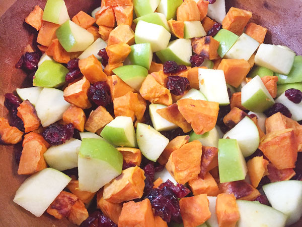 apple cranberries and butternut squash
