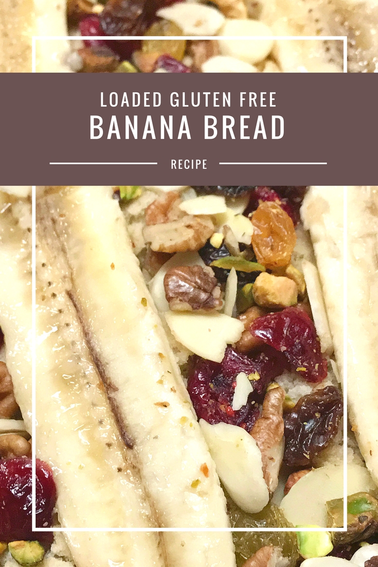 Gluten-free loaded banana bread recipe from Body Compass Discovery's blog
