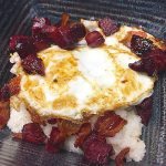 Savory girts with beets bacon and eggs