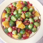 Citrus crunch brussels with oranges and pomegranates