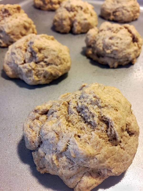 baked whole wheat #dropbiscuits
