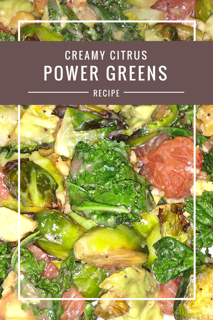 Avocado Grapefruit Brussels and Greens #salad recipe from Body Compass Discovery's blog