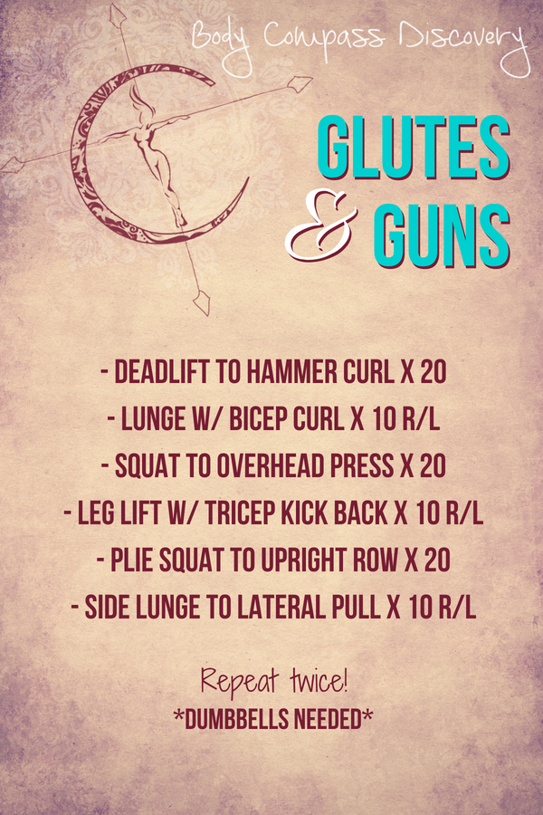 Glutes and Guns Routine from Body Compass Discovery's blog