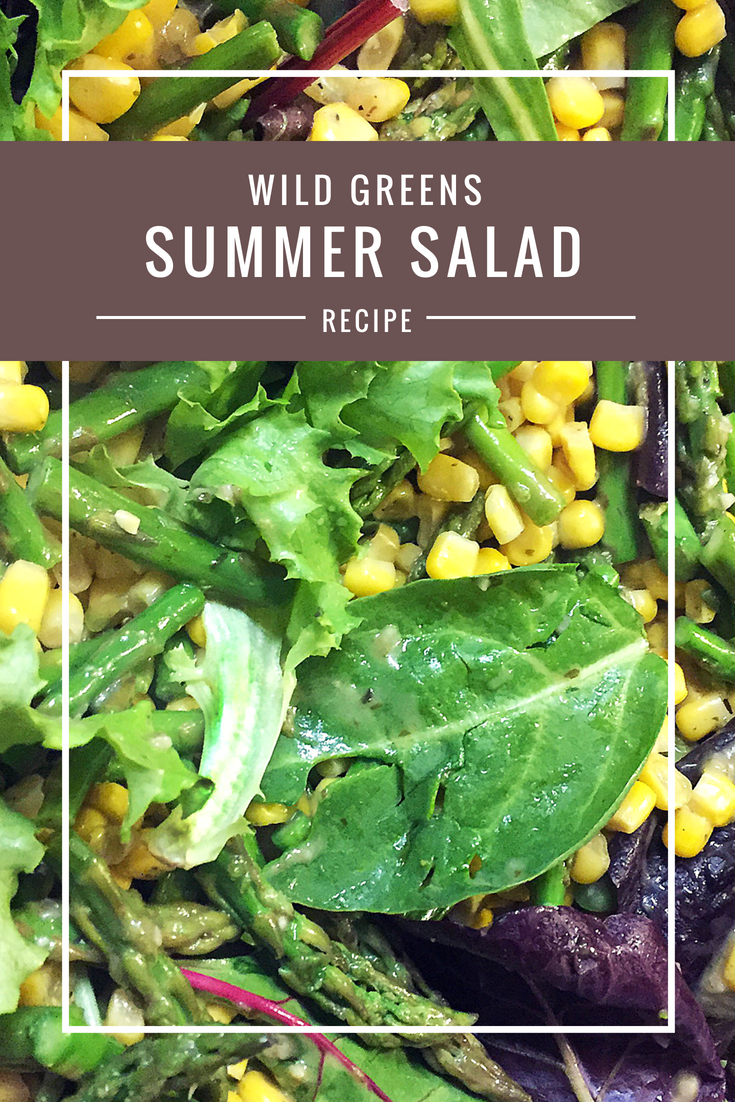 Wild Summer Greens recipe from Body Compass Discovery's blog