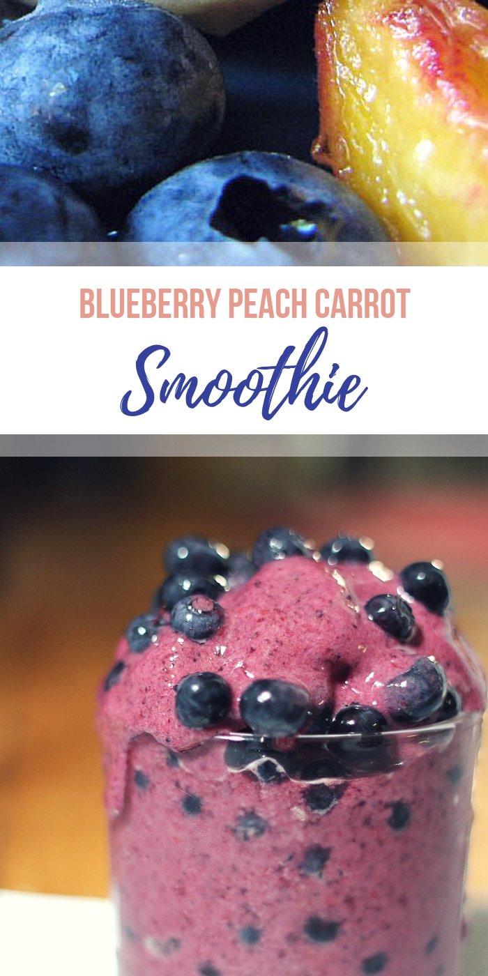 Blueberry Peach Carrot Smoothie from Body Compass Discovery's blog