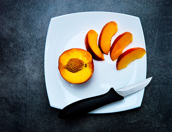 sliced peach